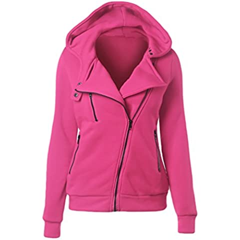 CHENGYANG sudaderas con cremallera y capucha Hooded Sweatshirt Casual Jacket Sportswear Manga Larga Chaqueta Corta jumper top para