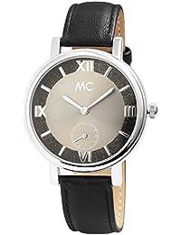 MC Timetrend Germany - Reloj de Pulsera analógico para Mujer, Color Negro y Antracita