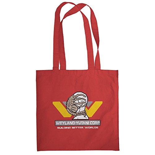 Texlab–Weyland Yutani Face Hugger–sacchetto di stoffa Rot