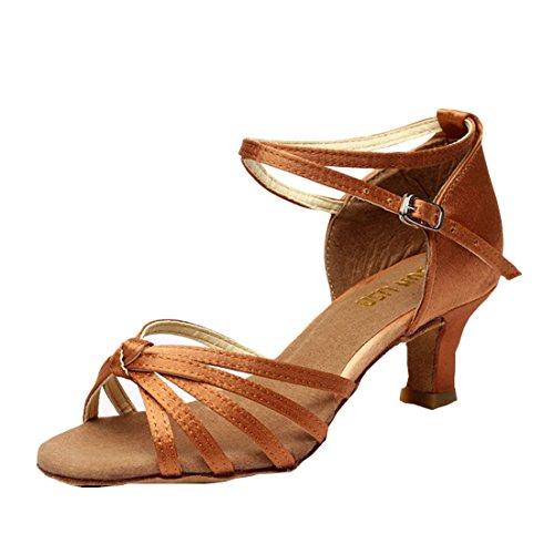 DorkasDE Damen Mädchen Tanzschuhe Latein Tanzschuhe Ballsaal Latein Tanz Schuhe mit 5/7cm Absatz