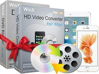 WinX DVD Video Converter Pack for Mac - Partenaire officiel de DIGIARTY WinX DVD (Téléchargement direct)