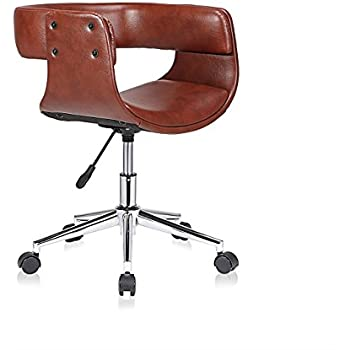 ASPECT Chelsea Padded Office Chair, Wood Brown, 73 x 61 x 88