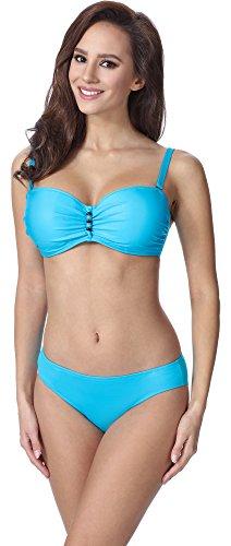 Merry Style Damen Figurformender Bikini F14 (Muster-211, Cup 90D / Unterteil 44)