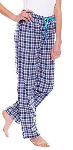 Moonline nightwear - Bas de pyjama - À Carreaux - Femme Bleu - Marine/lila/grau/hellblau/türkis