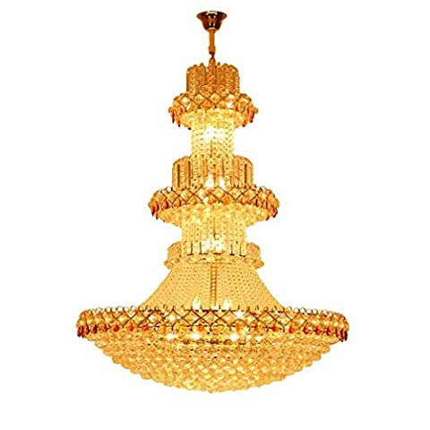 MULANG European Crystal Chandelier, Hotel Duplex Building Living Room Light, Personality Gold Decorative Chandeliers, LED Restaurant Ceiling Lamp? 60 X 70