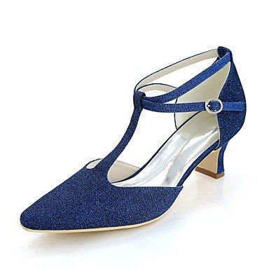 Wuyulunbi@ Scarpe donna Glitter Primavera Estate Comfort scarpe matrimonio blocco tacco punta quadrata per la festa di nozze & Sera Rosso Blu Argento oro nero US5 / EU35 / UK3 / CN34