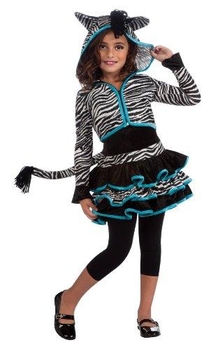 Drama Queens Zebra Hoodie Costume, Large