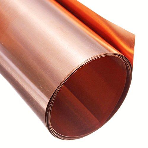 Kupferbleche Kupferplatte Kupferfolie im Zuschnitt 1000mm X 100mm X 0.2mm