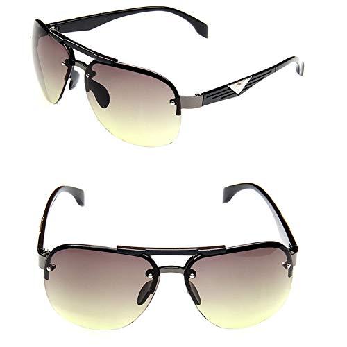 CCGSDJ Klassische Vintage Sonnenbrille Mann Fahren Hd Großen Rahmen Sonnenbrille Frauen Markendesigner Im Freien Oculos De Sol Hd Green Camo