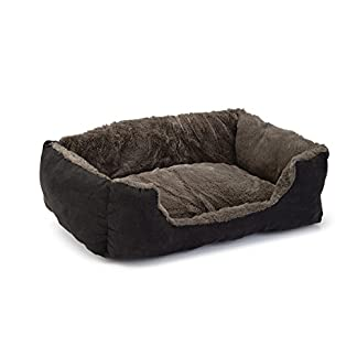 Beeztees Baboo Cat Rest Bed, 37 cm, Taupe/Black 7