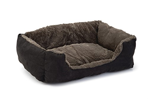 Beeztees Baboo Cat Rest Bed, 37 cm, Taupe/Black 1