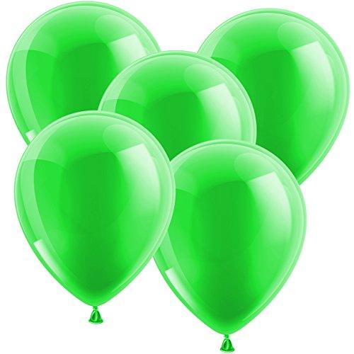 20x Ballon Luftballons Glänzend Latexballons Gummiballons - EUROPÄISCHE PREMIUMQUALITÄT - Freie Farbauswahl - auf jedem Geburtstag der Hingucker! (Grün)