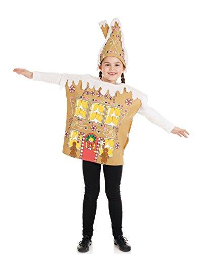 Lebkuchen-Haus - Weihnachten - Kinder-Kostüm - Groß - 136cm - Alter (Lebkuchen Kostüm)