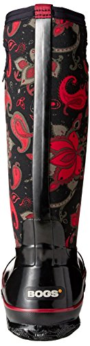Bogs Classic Paisley Floral Tall Womens Wellies Black Multi