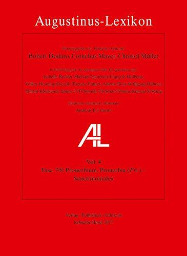 Augustinus-Lexikon Vol. 4, fasc. 7/8: Prouerbium, Prouerbia (Prv) – Sanctimoniales