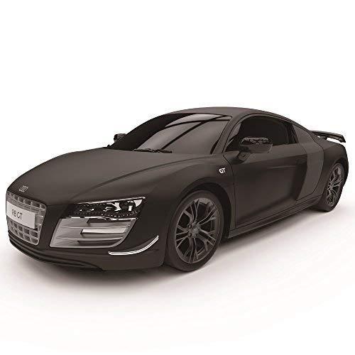 Audi R8 Gt, Offiziell Lizenziert Fernbedienung Auto für Kinder mit Working Lights, Funk On Road RC 1:24 Modell 2,4ghz (Matt Schwarz) Tolles Spielzeug für Jungen und Mädchen