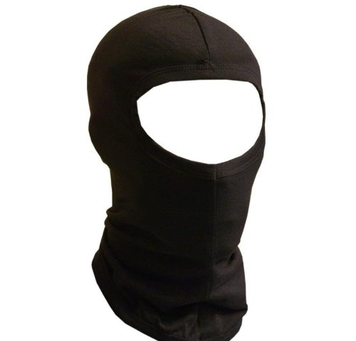Jasmine Silk Pure Silk Black Balaclava Thermal Under Helmet Protection Mask Ski Cycle Motorcycle Bike - Black