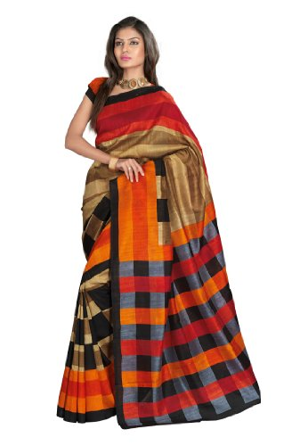 Fabdeal Women Bhagalpuri Silk Printed Saree