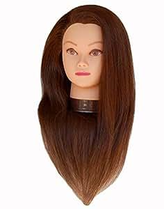 "Zvena Beauty 24 "" 100% Human Hair Cosmetology Mannequin Manikin Training Head - JUDY"