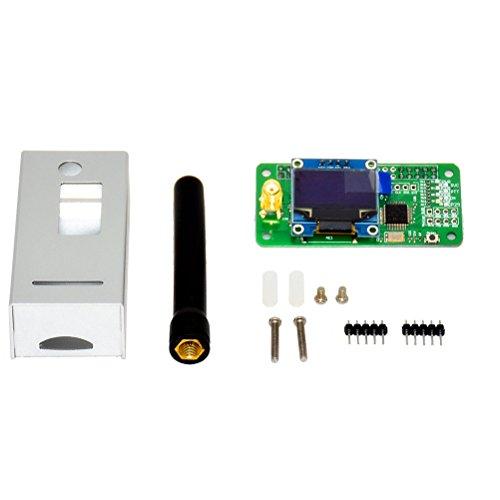 OUNONA MMDVM Hotspot Antenna Case Halterung OLED P25 DMR YSF Raspberry Pi Silber