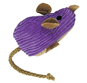 KONG Refillable Catnip Corduroy Mouse Cat Toy