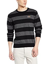 US Polo Association Mens Cotton Sweater (8907259208046_USSW0572_Black_XXL)