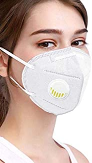 ARNV Polyster Anti-Pollution N95 Face Mask with Respirator Valve(Pack of 5), White