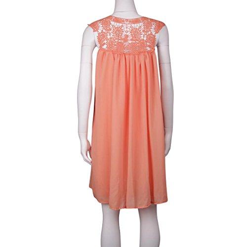 Damen Kleider YunYoud Frau Ärmellos Party Kleid Chiffon Strandkleid ...