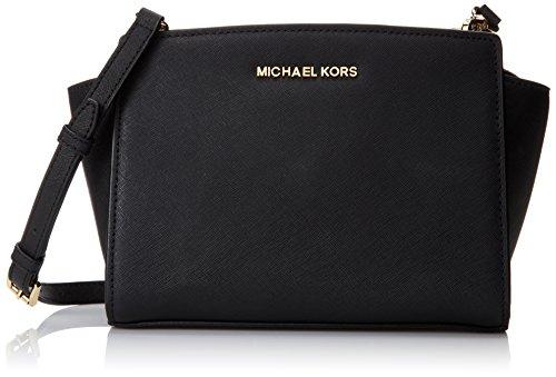 Michael Kors Donna Md Messenger Borsa a spalla, Colore Nero, Taglia unica