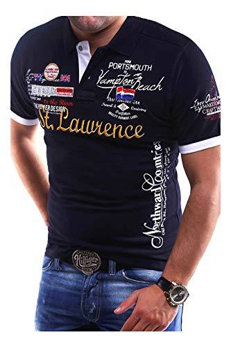 MT Styles Poloshirt LAWRENCE T-Shirt MP-301 [Dunkelblau, XXL]