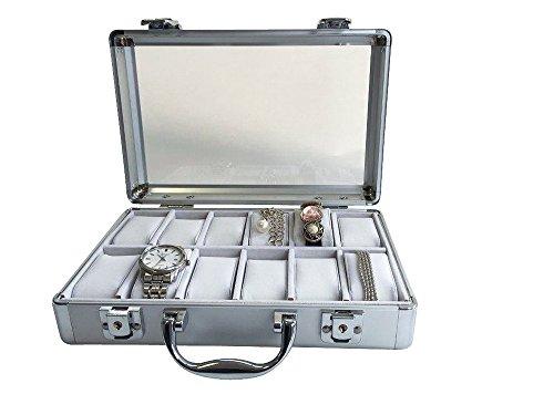 Uhrenkoffer aus Aluminium für 12 Uhren - 3