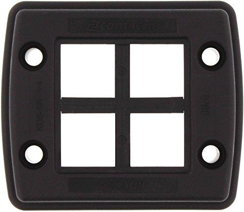 Conta-Clip 28602.4 Kabeldurchführungssystem KDSClick, bestehend SR 6/10, 2, 1 x KDS-Inlay 6, Schwarz, Set 1-4 BK -