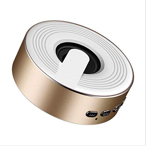 NSOP Drahtloser Kleiner Bluetooth Sprecher Q1, Beweglicher Minikarten-Subwoofer TWS Bluetooth Lautsprecher-Stereoton Für Tätigkeiten Im Freien Und Parteien,Gold