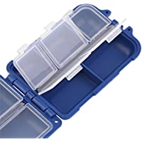 Sungpunet Compartimentos Caja de Almacenamiento para Pesca con Mosca, señuelo de Cebo, Caja de 10 Piezas