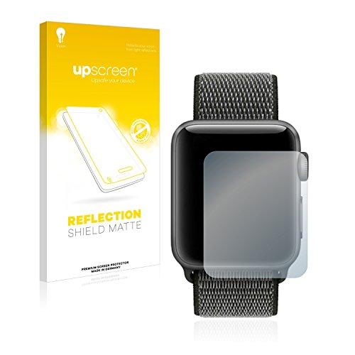 upscreen Reflection Shield Matt Displayschutzfolie Apple Watch Series 3 (42mm) Schutzfolie Folie – Entspiegelt, Anti-Fingerprint