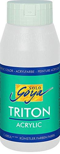 Solo Goya 17017 - Triton Acrylic Basic Flasche 750 ml, Weiss Test