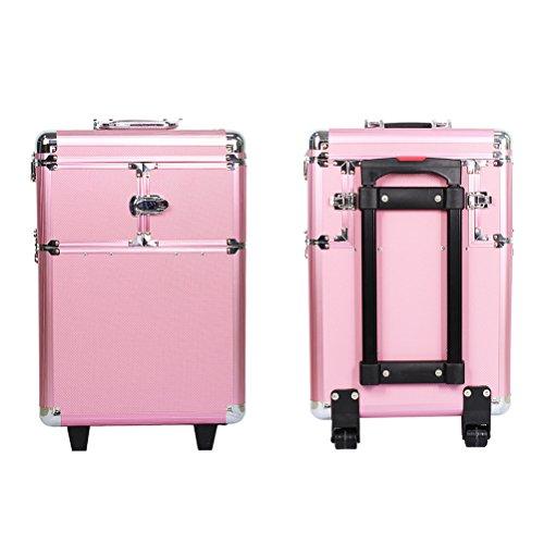 a8ccd861a HBF Maleta De Maquillaje Profesional Rosa Multiuso Maletin Para ...