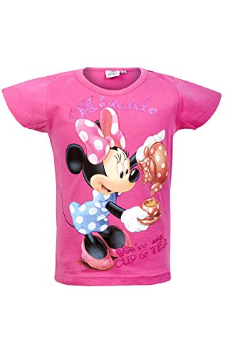 Disney Girls Minnie Mouse Tshirt Top Age 3-8 Years