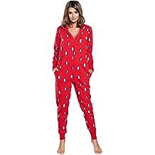 Italian Fashion IF Pijama Entero Una Pieza Ropa de Cama Mujer IF180017