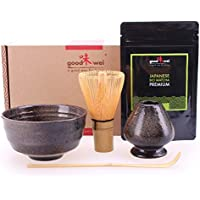 Goodwei conjunto de té Matcha completa incl. 30G polvo de té verde Matcha orgánico