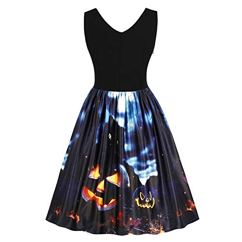 Lover-Beauty Kleider Damen Festlich Halloween Mini Cocktailkleid Abendkleid Sommerkleider...