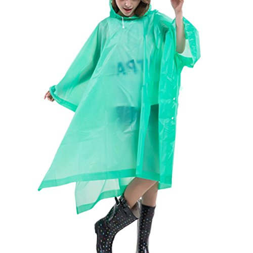 Zhhlaixing Outdoor Multifunctional Hiking Bicycle Hooded Portable Raincoat 1500 green
