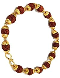 Golden Cap Original Rudraksha Bracelet For Unisex | Original Bracelet Guaranteed By Neelam Ratna