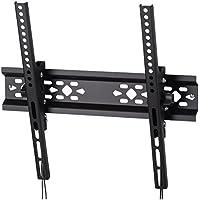 Wandhalterung Samsung TV bis 60 kg Traglast (32 bis 65 Zoll, bis 15 Grad neigbar, VESA 50x50 – 400x400, Bildschirmdiagonale 81-165 cm) stabile Fernseh-Halterung schwarz