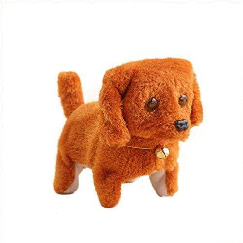 Neues Roboter-nettes elektronisches gehendes Haustier Hund Welpe Kinder Spielzeug mit Musik Licht (Brown) (Spielzeug Licht Mit Hund)