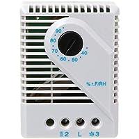 BIlinli El Controlador de Humedad higrostato mecánico Conecta el Calentador del Ventilador para el gabinete MFR012