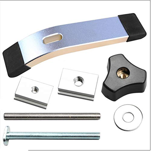 Hold Down Clamp Aluminum Heavy Thick Durable W Hold-Down Clamp With T-Bolt, Slider For Drill Presses Saws Cnc Routers -