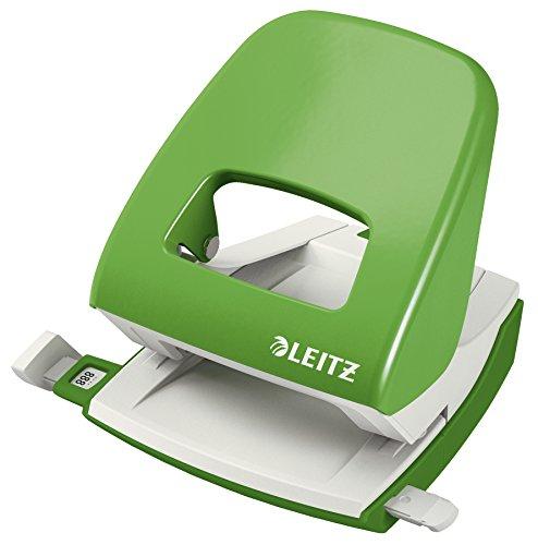 Leitz 50080050 Locher (30 Blatt, Anschlagschiene mit Formatvorgaben, Metall, NeXXt) grün -