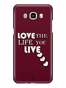 YuBingo Love is the Life you Live Designer Mobile Case Back Cover for Samsung Galaxy J7 2016