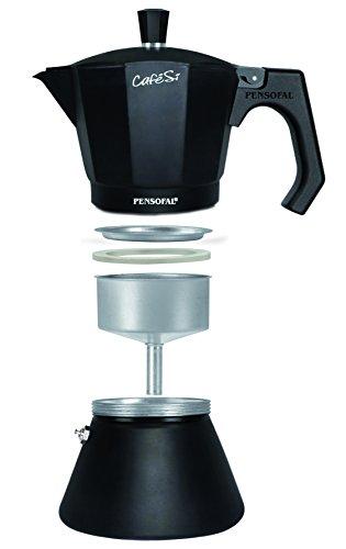 Pensofal-PEN8409-Caffettiera-in-Alluminio-9-Tazze-in-Scatola-Regalo-Serie-CafeS-Nero